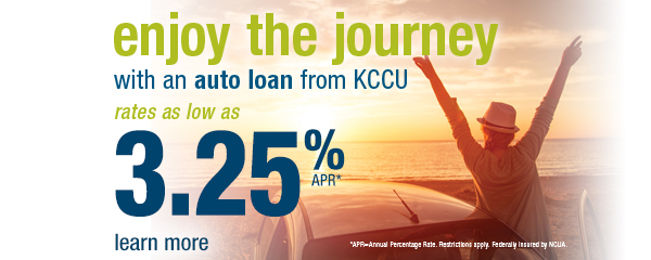 Auto Loan rates as low as 3.25%