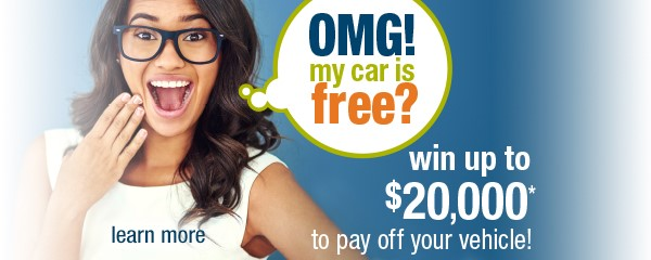 Win up to $20,000 to pay off your auto loan OMG! Sweepstakes