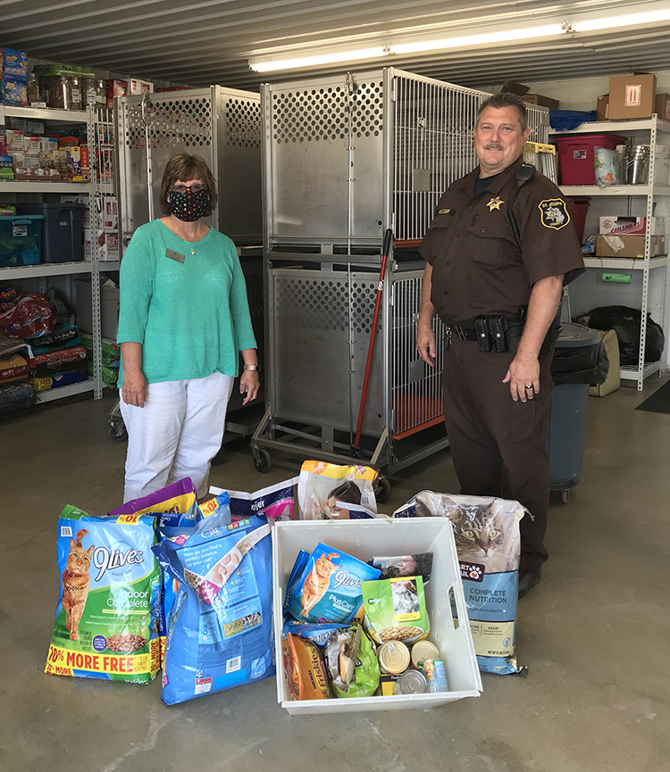 KCCU delivers donations collected for St. Joseph County Animal Control